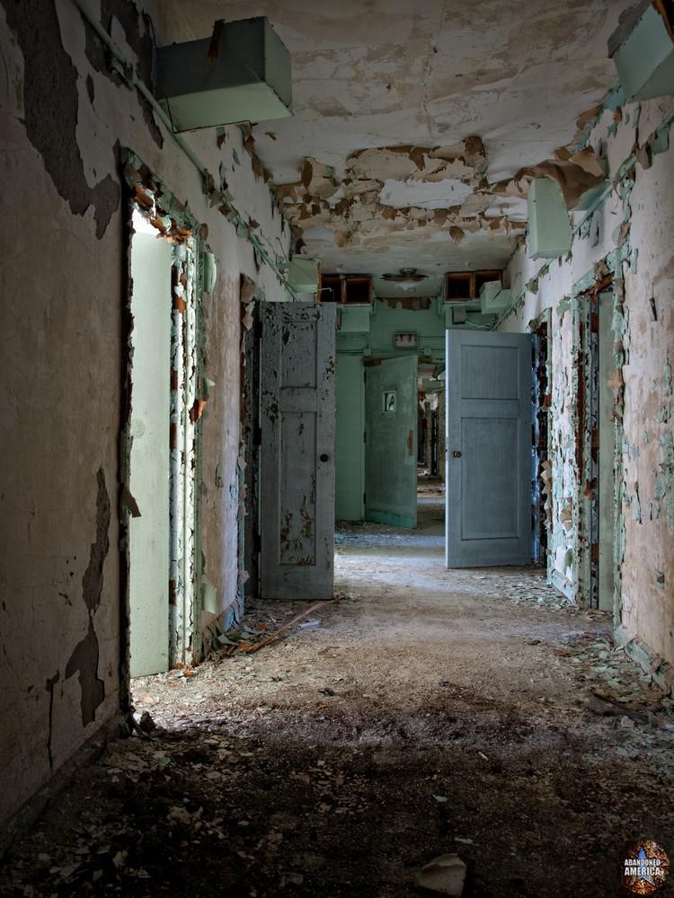 Pennhurst State School (Spring City, PA) | Standard Hallway Shot - Pennhurst State School and Hospital