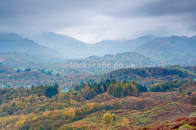 View to Langdale from Loughrigg Fell - Lake District - Lake District National Park