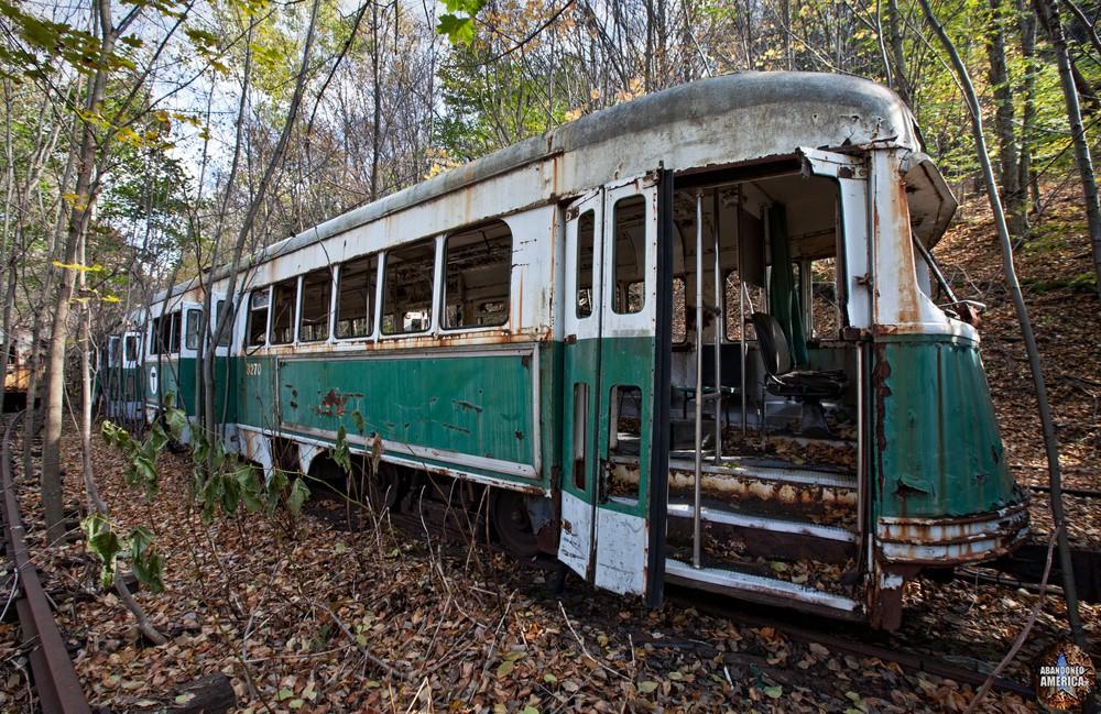 Trolley Graveyard | Boston Green Line Trolleys - The Trolley Graveyard