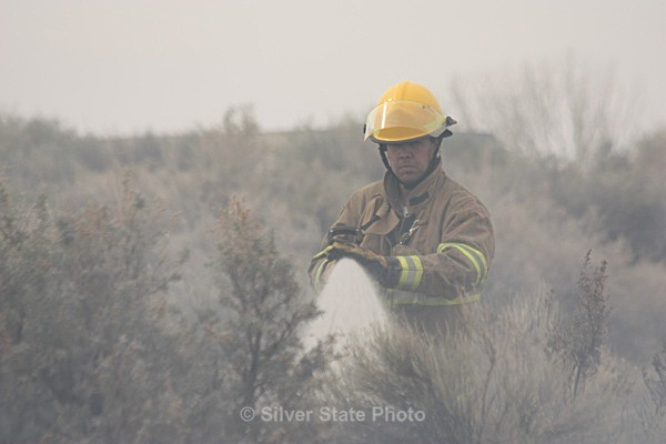 Dan putting the fire out - Fallon/Churchill Fire Department