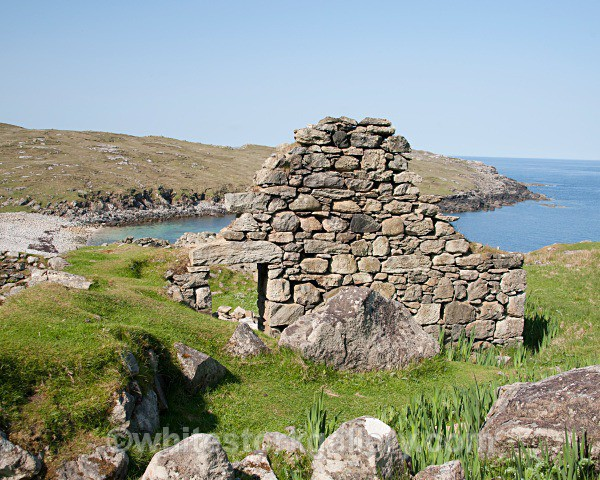 Ruins at Blackhouse Village - Scottish Highlands