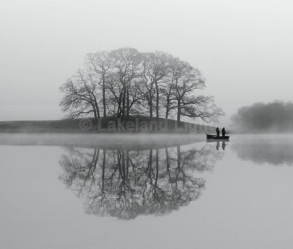 Esthwaite Fishing bw - Monochrome