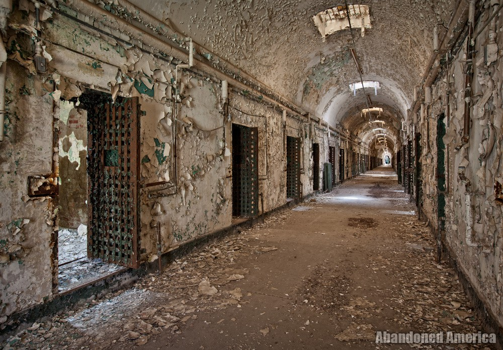 Cellblock hallway, Holmesburg Prison, Philadelphia PA | Abandoned America by Matthew Christopher