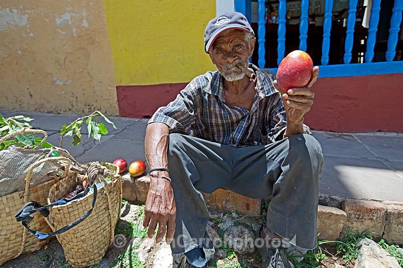 Mango seller Trinidad ,Southern Cuba - Cuba, Island Tour 2010