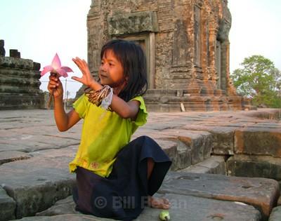 Angkor Lotus Girl - Monument