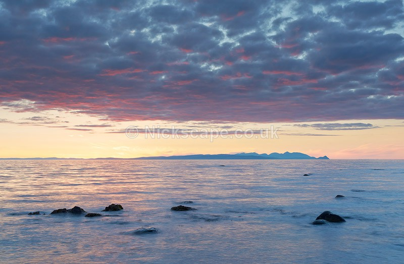 Isle of Arran Photograph from the Ayrshire Coast | Scotland Gallery