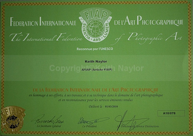 AFIAP Certificate - Awards