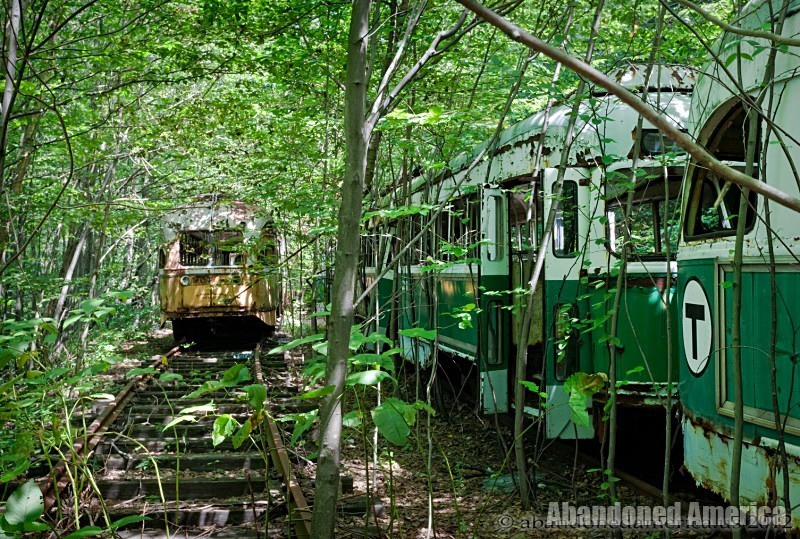 Trolley Graveyard    Abandoned America