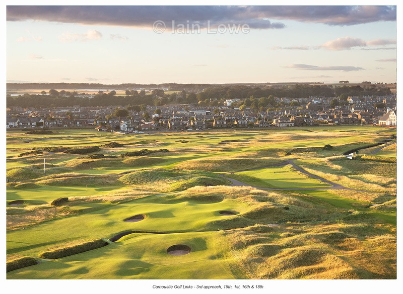 Carnoustie Golf Links 3rd approach - Scottish Links Aerial Images