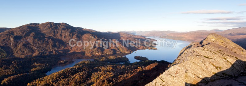 Ben Venue & Loch Katrine from Ben A'an, The Trossachs - Panoramic format