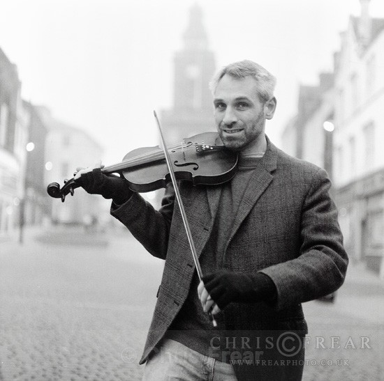 Fiddle Player - Black & White