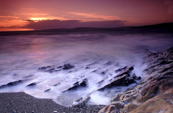 coastal sunset, garrettstown,co. cork,ireland,