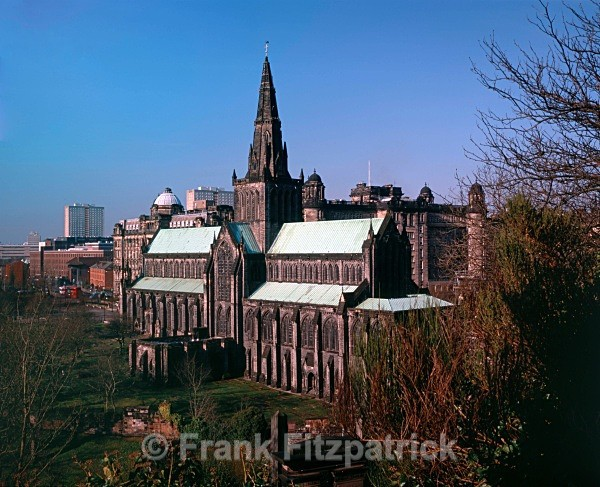 Glasgow Cathedral from Glasgow Necropolis. - Glasgow