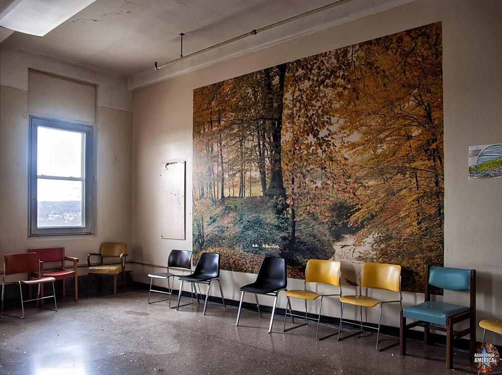 Overbrook Asylum (Cedar Grove, NJ)   Autumn Wall Print - The Essex County Hospital Center