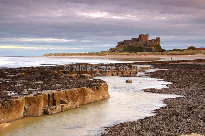 Photograph at the coast at Bamburgh Castle | North East Landscapes