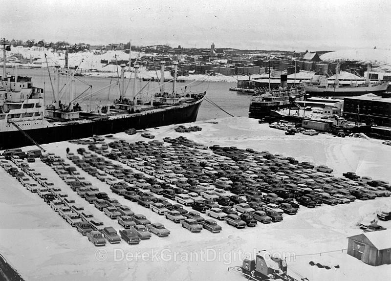 Vauxhalls Port of Saint John New Brunswick Canada General Motors GM - Historic New Brunswick
