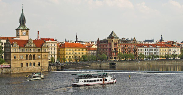 riverbank view - Prague