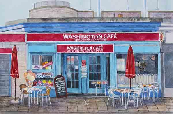 The Washington Cafe. - New Works