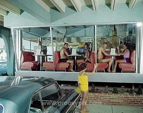 1960s coffee shop - On Vacation