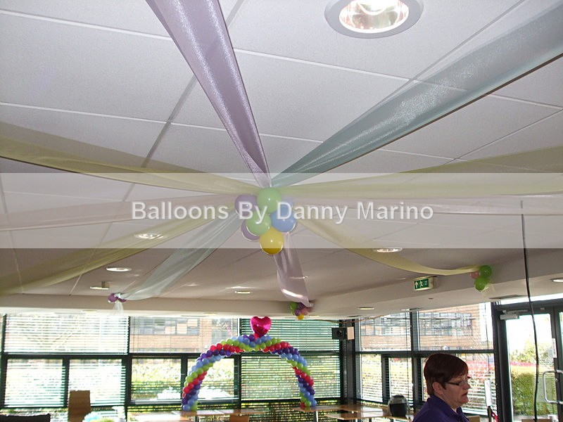 Rainbow ceiling - Birthday Balloons