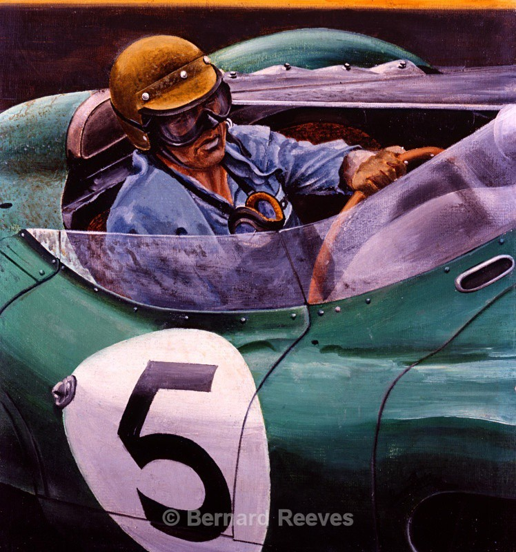 Carroll Shelby in an Aston Martin at Le Mans - Sports cars
