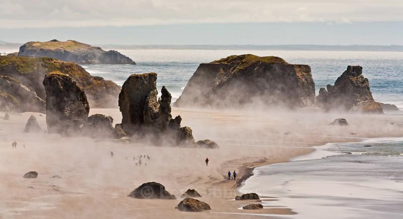 Bandon sand storm - Oregon