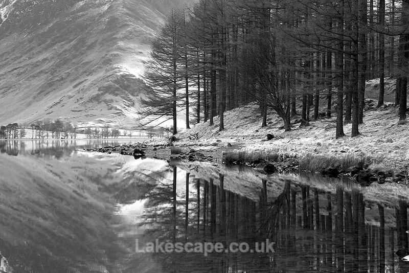 A Winter's Calm, Buttermere B&W - Buttermere