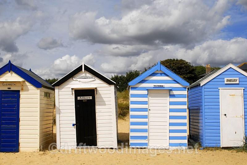 Beach huts at Gun Hill - Southwold Suffolk