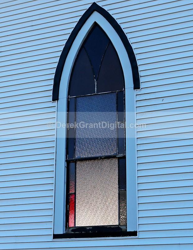 Riverside-Albert Baptist Church Stained Glass Window - Churches of New Brunswick