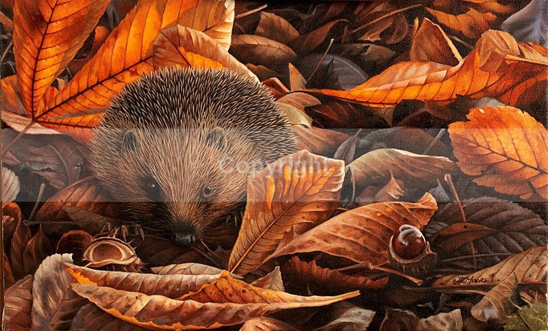 'UNDERNEATH THE CHESTNUT TREE 'AUTUMN HEDGEHOG - Misc