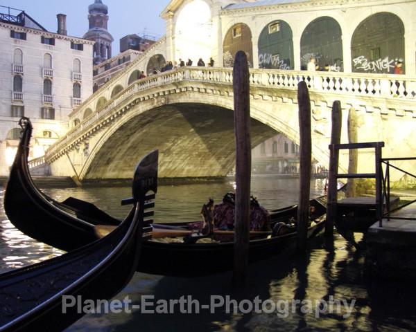 Rialto and Gondolas - Venice