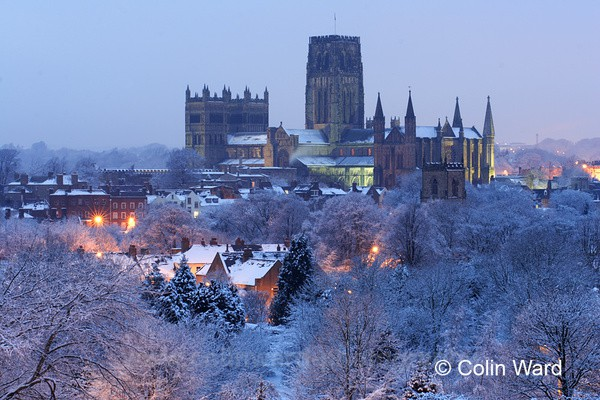 Durham Cathedrel on a Winter Evening - County Durham
