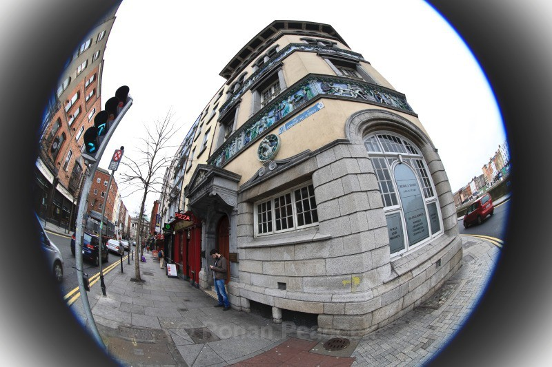 Lever Building - Dublin - through a fisheye lens