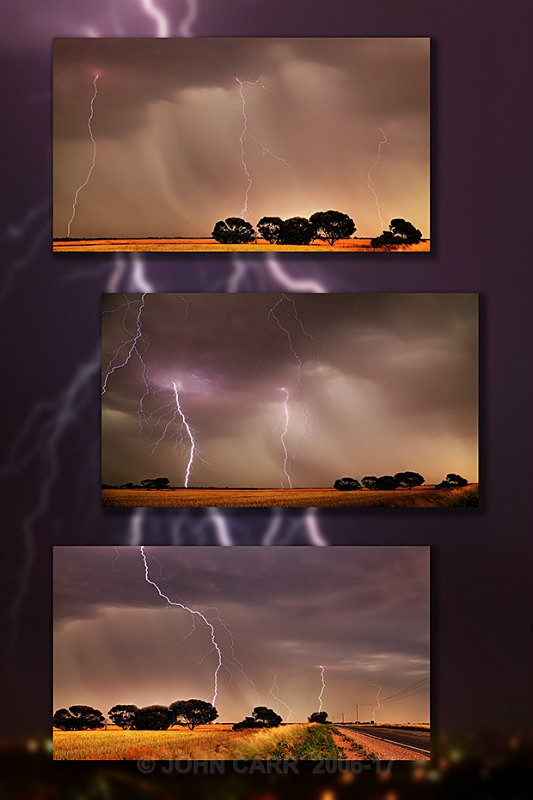 Multi Strikes Triptych-1 - MONTAGES