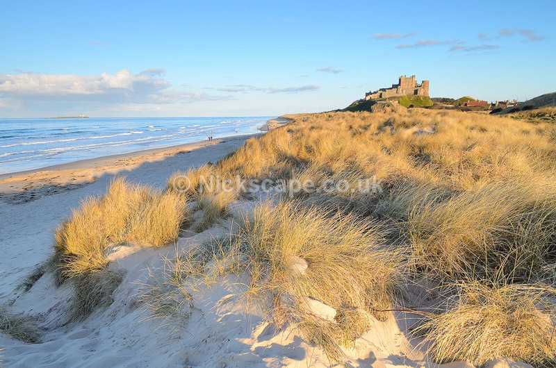 Bamburgh Castle Dunes - Northumberland Coast, UK - Northumberland