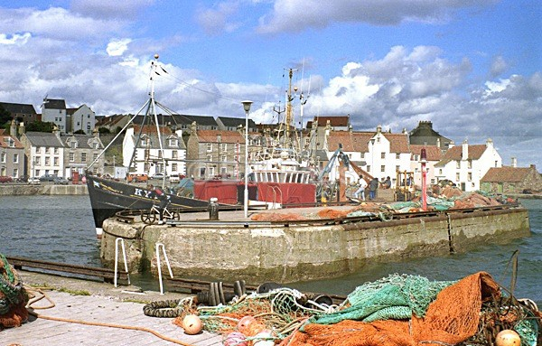 Anstruther Town Harbour Trawler - Land and Sea