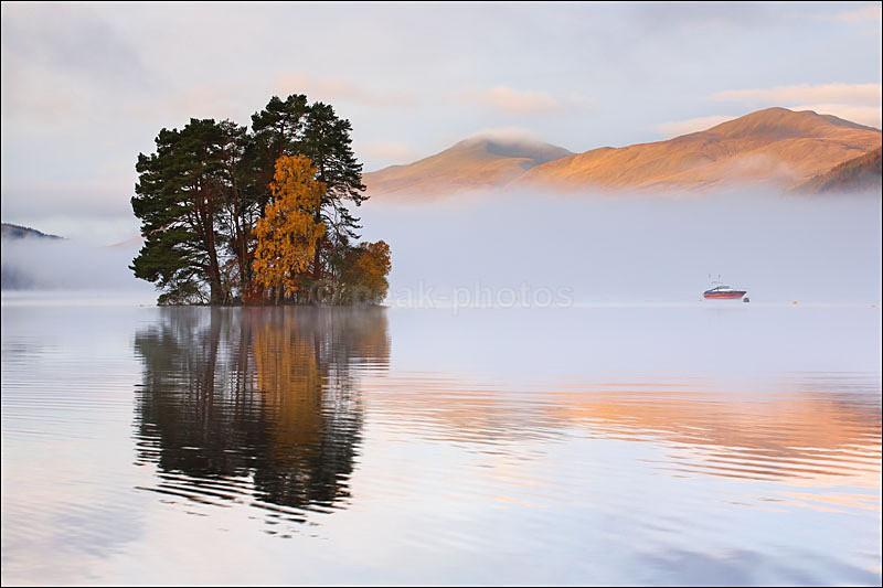 Loch Tay Trees  Boat - Photographs of Scotland