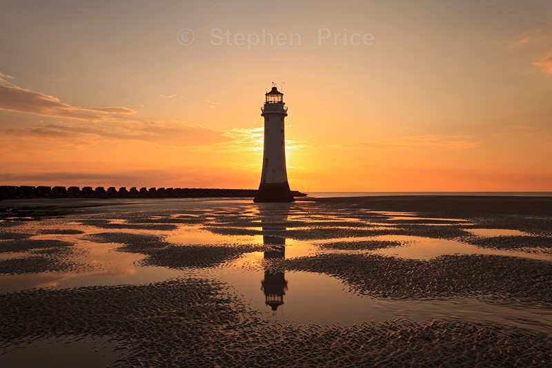New Brighton Lighthouse | Wirral Sunset Beach Photography