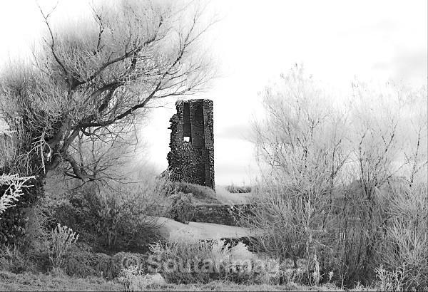 Winter Doonbeg Castle B/W - Doonbeg Area