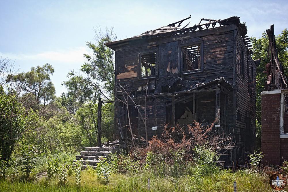 Gary, Indiana   Burnt Home - Gary, Indiana