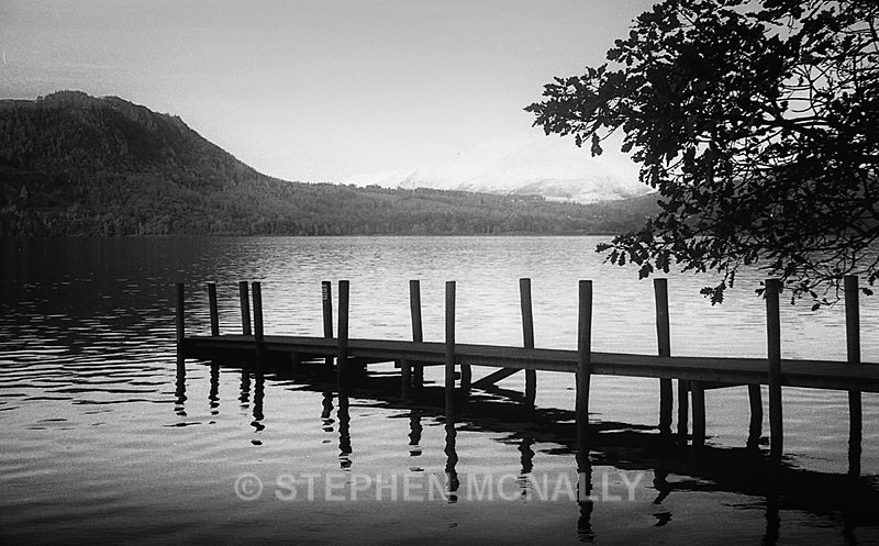 Lodore Jetty Derwent Water English Lake District - Images made on Film