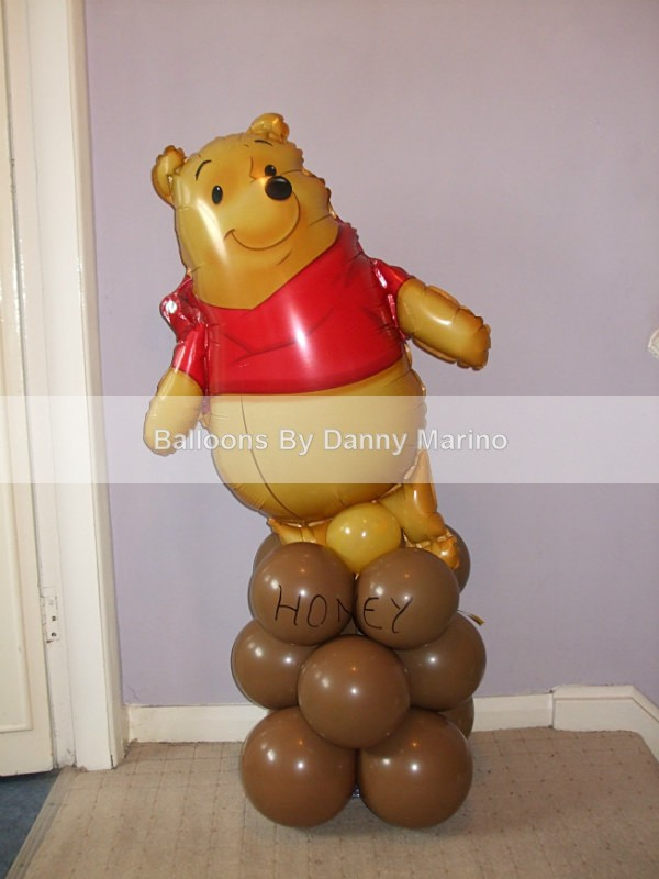 Pooh Bear - Birthday Balloons