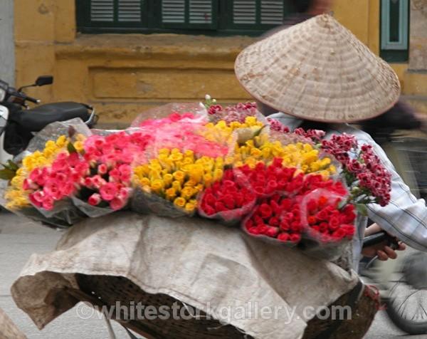 Flower Woman, Vietnam - Asia