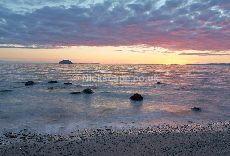 Ailsa Craig photograph from the Ayrshire Coast at Girvan   Scotland Gallery
