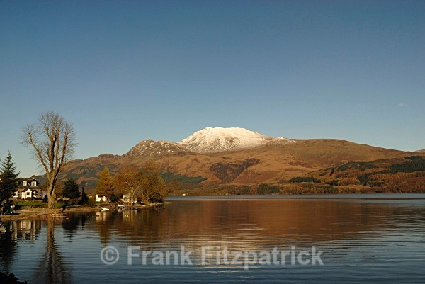 Culag, Loch Lomond, with the distinctive peak of Ben More - Scottish scenics