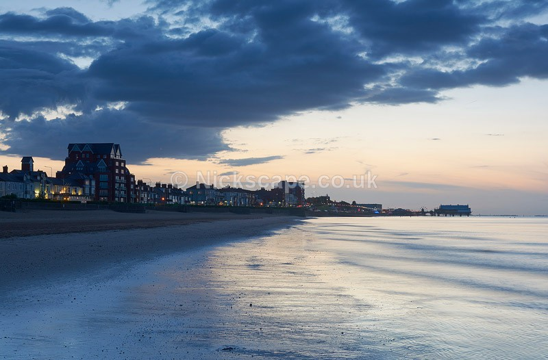Photo of Cleethorpes Beach at Sunset with Pier   Lincolnshire Coastal Photography