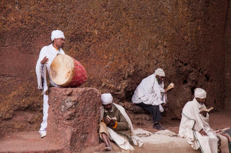 Lalibela - drummer - Ethiopia