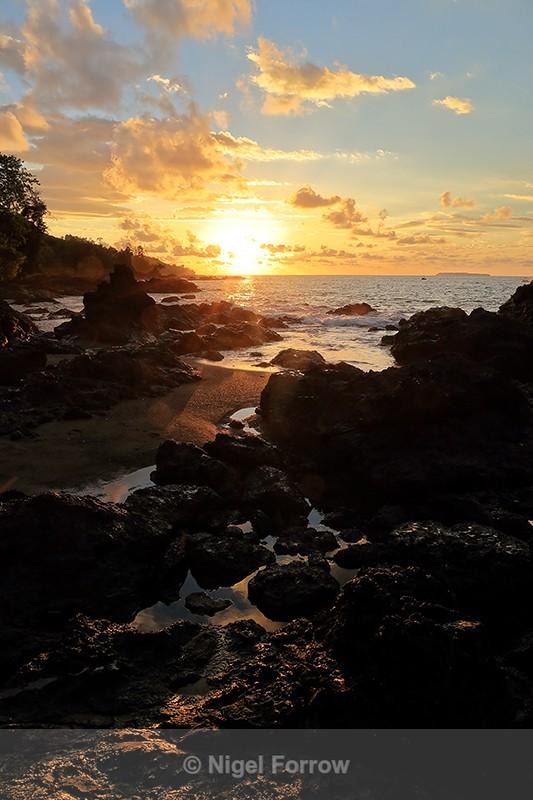 Pacific Ocean sunset, Drake Bay, Osa Peninsula, Costa Rica - Costa Rica