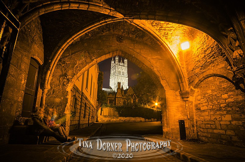 Gloucester Cathedral from vaulted arch Cathedral Close, Gloucester by Tina Dorner Photography