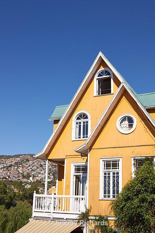 Historic Buildings of Valparaiso - Coastal Chile